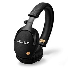 Marshall Monitor Bluetooth Over-Ear Headphone. Bluetooth aptX gives you the freedom of a wireless headphone. Monitor Bluetooth features custom tuned drivers for exceptional audio. Marshall Bluetooth, Marshall Headphones, Buy Headphones, Bluetooth Headphones, Over Ear Headphones, Bluetooth Gadgets, Tech Gadgets, Galaxy Smartphone, Beats Studio