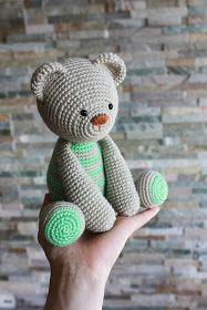 Amigurumi creations by HappyAmigurumi: One more Teddy Bear