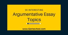 Check out this list of argumentative essay topics for some great ideas for your next essay.