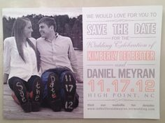 Our Save the Dates!!! :)