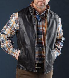 Patrick James Reversible Leather/Wool Vest