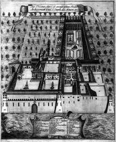 The layout of a castle garden.