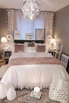 Cute Design Of Bedroom Ideas For Teen Girls Dream Rooms * cute design of bedroom. Cute Design Of Bedroom Ideas For Teen Girls Dream Rooms * cute design of bedroom ideas for teenage Cute Bedroom Decor, Bedroom Decor For Teen Girls, Room Design Bedroom, Cute Bedroom Ideas, Girl Bedroom Designs, Room Ideas Bedroom, Small Room Bedroom, Stylish Bedroom, Budget Bedroom
