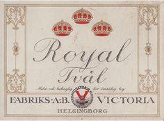 Royal Tvål soap label