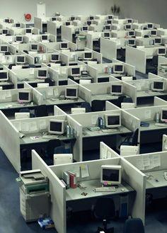 Großraumbüro - Arbeitsplatz