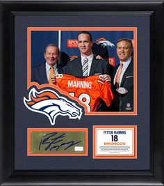AAA Sports Memorabilia LLC - Peyton Manning Framed 8x10 Photograph | Details: Denver Broncos, with Autographed Plate, $299.95 (http://www.aaasportsmemorabilia.com/nfl/denver-broncos/peyton-manning-framed-8x10-photograph-details-denver-broncos-with-autographed-plate/)