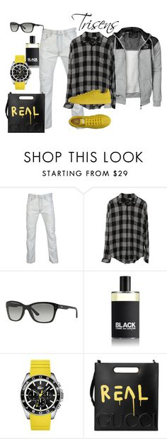 """Mit Gelb im Trend"" by trisens on Polyvore featuring Armani Exchange, Comme des Garçons, Lacoste, Gucci, adidas, men's fashion und menswear"