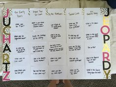 Bridal shower jeopardy questions