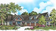 Home Plan HOMEPW77128 - 3267 Square Foot, 4 Bedroom 3 Bathroom Craftsman Home with 3 Garage Bays | Homeplans.com