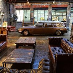 car garage loft retro style