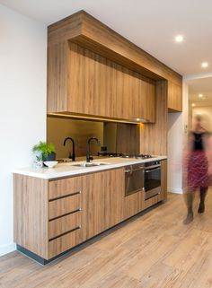 Duropal woodgrain laminate used for this kitchen.
