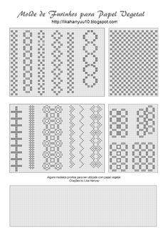 Post para juntar todos os moldes/pattern para criação de peças em papel vegetal. xD Moldes feitos no Inkscape. =] Exemplo de uso: ...