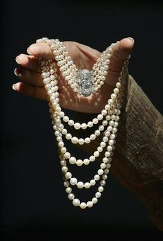 Part of a 2006 Christie's auction, this Art Deco pearl and diamond necklace was an 18th birthday gift to Her Royal Highness The Princess Margaret from her grandmother, Her Majesty Queen Mary.