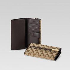 257012 FAFXG 9643 Continental Geldb?rse mit eingraviertem Gucci Marke M Gucci Damen Portemonnaie