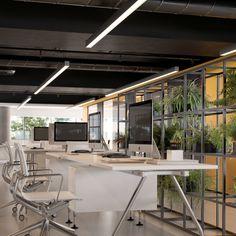 Office Interior Design, Office Interiors, Ny Loft, Apartment Complexes, Studio Apartment, 3d Design, Architecture, Outdoor Decor, Modern