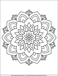 Free Printable Coloring Pages – Mandalas Coloring Free Adult Coloring Pages, Mandala Coloring Pages, Free Printable Coloring Pages, Colouring Pages, Coloring Books, Pattern Coloring Pages, Kids Coloring, Free Printables, Mandala Drawing