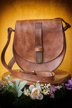 Brown Leather Women's Bag, 30th Birthday Gift, Shoulder Girlfriend Bag, Every Day Bag, Women leather bag