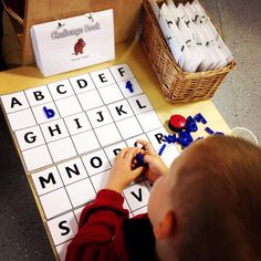 Pre-k - Kindergarten Match upper to lower case letters Put letter shapes or tiles in alphabetical order. Nursery Activities, Phonics Activities, Alphabet Activities, Writing Activities, Classroom Activities, Learning Letters, Year 1 Classroom, Early Years Classroom, Eyfs Classroom