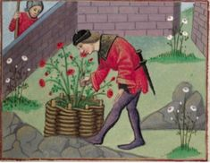 Hortus Conclusus: My Medieval Garden, Inauthenticity, and The Real - OnePeterFive Medieval World, Medieval Art, Medieval Clothing, Medieval Manuscript, Illuminated Manuscript, Renaissance, Chalkboard Drawings, Chalkboard Lettering, Chalkboard Paint