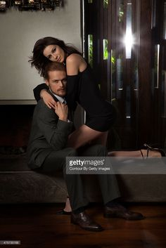 Actors Caitriona Balfe and Sam Heughan are photographed for Emmy Magazine on February 4, 2015 in Los Angeles, California. ON EMBARGO UNTIL JULY 1, 2015.