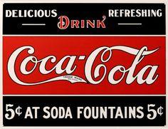 Coca- Cola Placa de lata