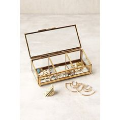 Keepsake Glass Display Box ($16) ❤ liked on Polyvore featuring home, home decor, small item storage, jewelry trinket box, jewelry boxes, jewellery box, jewelry display box and glass keepsake box