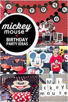 Boy's Mickey Mouse Birthday Party Ideas