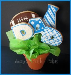 Father's Day cookie bouquet By AmandasCustomCakes on CakeCentral.com