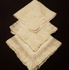 Vintage Asstd white /& Cream cotton lace shelf trim,interior project,cushions 6m
