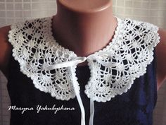 Lace collar necklace Fan/ Lace collar от WorldBeautifulThings