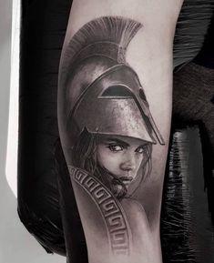 tattoo tattoo masculina The Goddess Athena Tattoo Greek Goddess Tattoo, Greek God Tattoo, Greek Mythology Tattoos, Greek Goddess Art, Roman Mythology, Cool Chest Tattoos, Chest Piece Tattoos, Leg Tattoo Men, Hades Tattoo