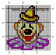 Clown hama perler beads
