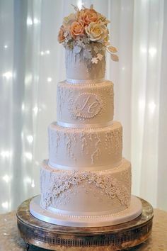 Elegant, luxury, bespoke wedding cakes, professionally designed and made in the North West Luxury Wedding Cake Design, Wedding Favours Luxury, Wedding Cake Designs, Wedding Wishes, Wedding Ideas, Floral Wedding Cakes, White Wedding Cakes, Wedding Cakes With Flowers, Lace Wedding