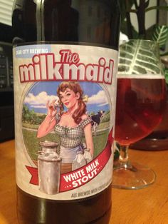 Milk Maid White Milk Stout is a collaboration from Cigar City Brewing and Hardywood Park.  It's quite good!