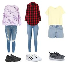 """Sans titre #25"" by ndlpacha on Polyvore featuring mode, 7 For All Mankind, adidas, Topshop, MANGO, NIKE et Frame Denim"