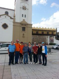 Primer entrenamiento #QueTiembleElCamino Tenerife: en este proyecto participan peregrinos de la Asociación Parkinson Valencia, pero también existe otro grupo más pequeño (pero no por ello menos importante) que pertenecen a la Asociación de Familiares y Enfermos de Parkinson de Tenerife.  Esta foto es del primer entrenamiento de éstos, que lo realizaron el 14 de Diciembre. La ruta fue desde la Basílica de Candelaria- Caletillas, ida y vuelta, en total unos 5,4 km. en 1h 36'.