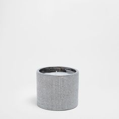 Imagen del producto Vela contenedor cerámica plateada