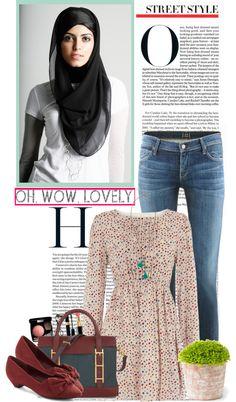 """Hijab Life......."" by kokosh ❤ liked on Polyvore"