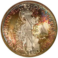 """Despite its tiny size, the """"Mercury"""" dime may very well be the most beautiful coin ever produced by the United States Mint. Description from ngccoin.com. I searched for this on bing.com/images"""