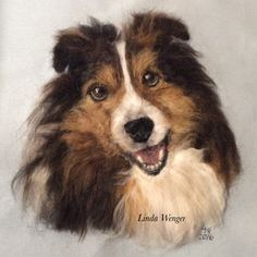 Felted portrait of Shelby
