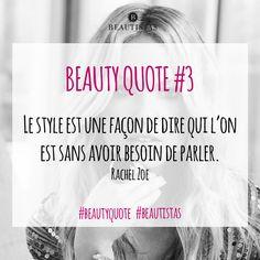 Le style est une façon de dire qui l'on est sans avoir besoin de parler #beautyquote #citation #beauté #style #beautistas