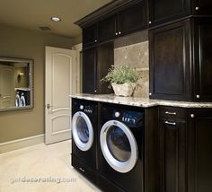 Laundry Room Design Ideas - Photos / Pictures of Laundry Rooms Include Ideas on Countertops, Cabinets, Lighting for Laundry Rooms in the Home / House - GetDecorating.com