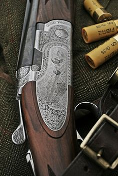 Shotgun & Musto Shooting Coat with RC Cartridges A finely engraved Beretta shotgun is a thing of beauty. [ ]A finely engraved Beretta shotgun is a thing of beauty. Beretta Shotgun, Trap Shooting, Skeet Shooting, Sporting Clays, Hunting Guns, Dove Hunting, Le Male, Firearms, Shotguns
