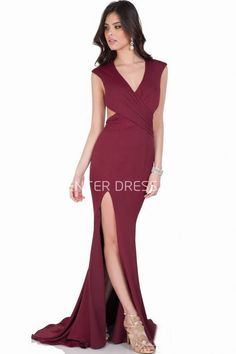$131.59-Maxi Sheath Cap Sleeve V-Neck Ruched Jersey Red Evening Gown with Open Back. http://www.ucenterdress.com/maxi-sheath-cap-sleeve-v-neck-ruched-jersey-prom-dress-pMK_302105.html.  Shop for affordable evening gowns, prom dresses, white dresses, party dresses for women, little black dresses, long dresses, casual dresses, designer dresses, occasion dresses, formal gowns, cocktail dresses . We have great 2016 Evening Gowns on sale now. #evening #gowns