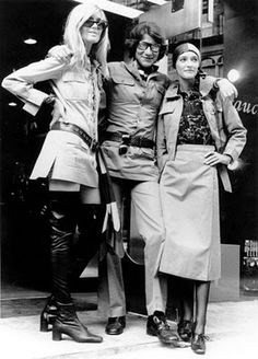 Paloma Picasso, Yves St Laurent, and Betty Catreoux in Safari 70s