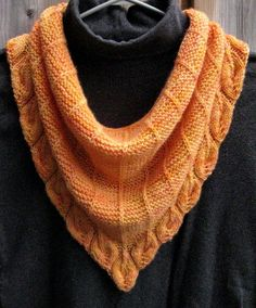 Ode to Joy scarf in Orange Blossom colourway - Fagus scarf pattern, Ravelry