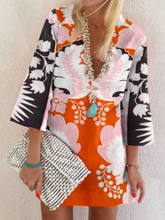Types Of Sleeves, Dresses With Sleeves, Mini Dresses, Women's Dresses, Formal Dresses, Dresses Online, Paisley, V Neck Dress, Shirt Dress