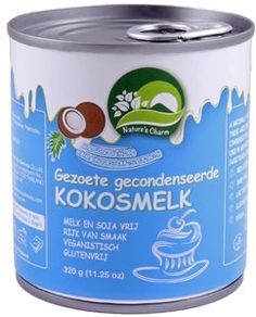Nature's Charm gezoete gecondenseerde kokosmelk 320g Condensed Coconut Milk, Fodmap, Canning, Desserts, Tailgate Desserts, Deserts, Postres, Dessert, Home Canning
