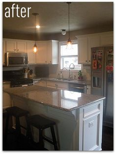 This is Emily's kitchen. She asked if I would help her make a few changes and I was excited to do so! She knew how she wanted it to feel ...