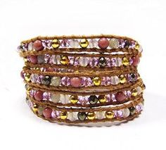 This wrap #bracelet matches so many of my outfits! #crystal #jewelry